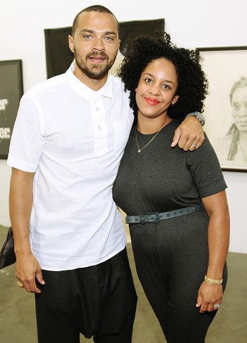 Grey's Anatomy Star Jesse Williams with his real-life partner Aryn Drake-Lee