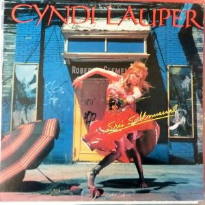 The album/LP cover for She's So Unusual by Cyndi Lauper