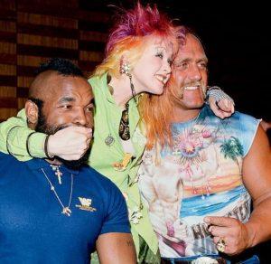 Cyndi Lauper, Captain Lou Albano and Mr T