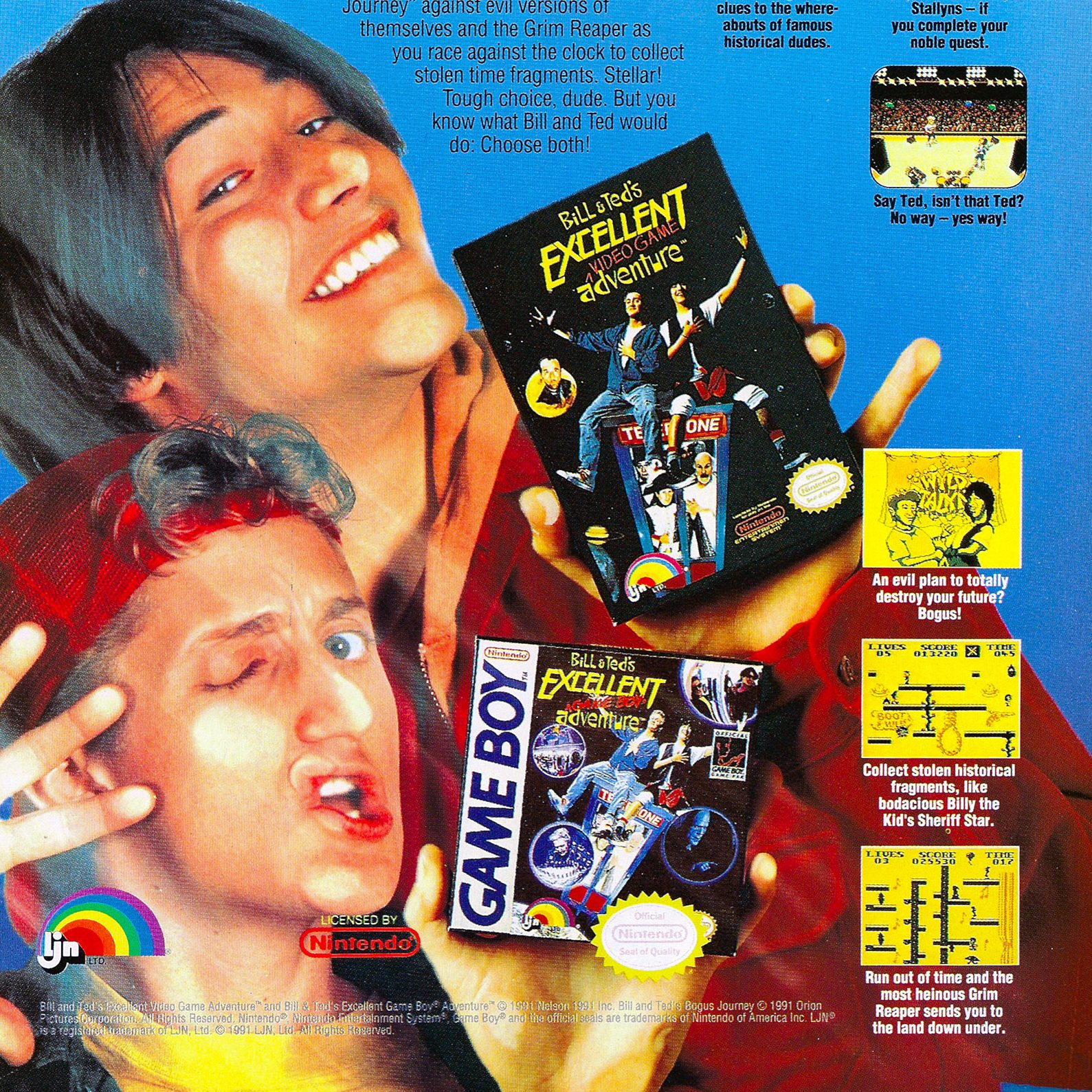Bill and Teds Excellent Video Game Adventure and Game Boy Adventure e1599642334494 25 Totally Non-Heinous Facts About Bill & Ted's Excellent Adventure!