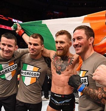 Conor McGregor and Team in Octagon UFC Pic 20 Craziest Conor McGregor Moments