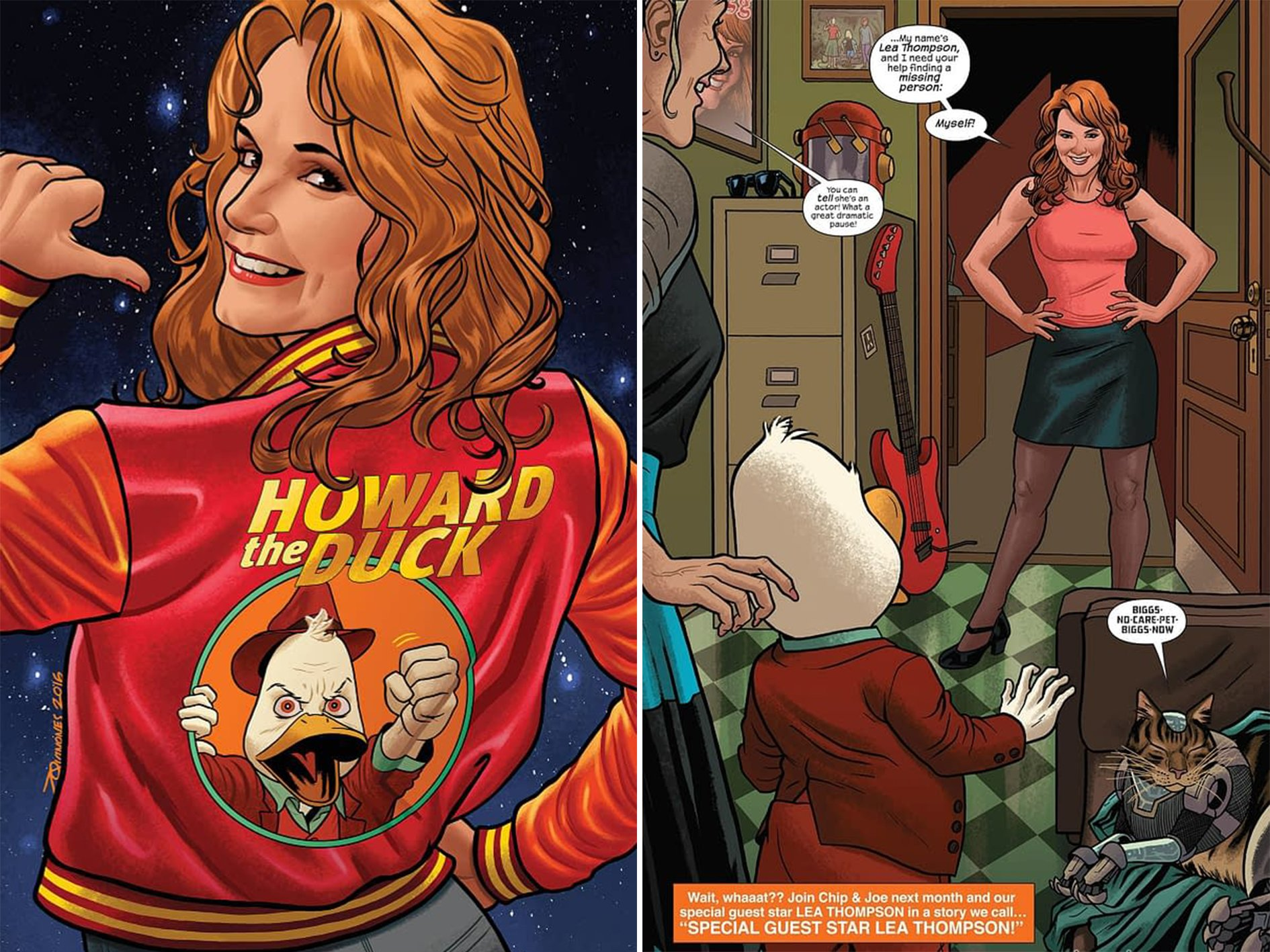 Howard the Duck Lea Thompson 2016 Marvel These 10 Facts About Howard The Duck Are Quackers