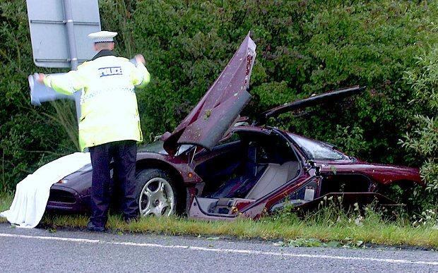 Atkinson's aston martin car crash