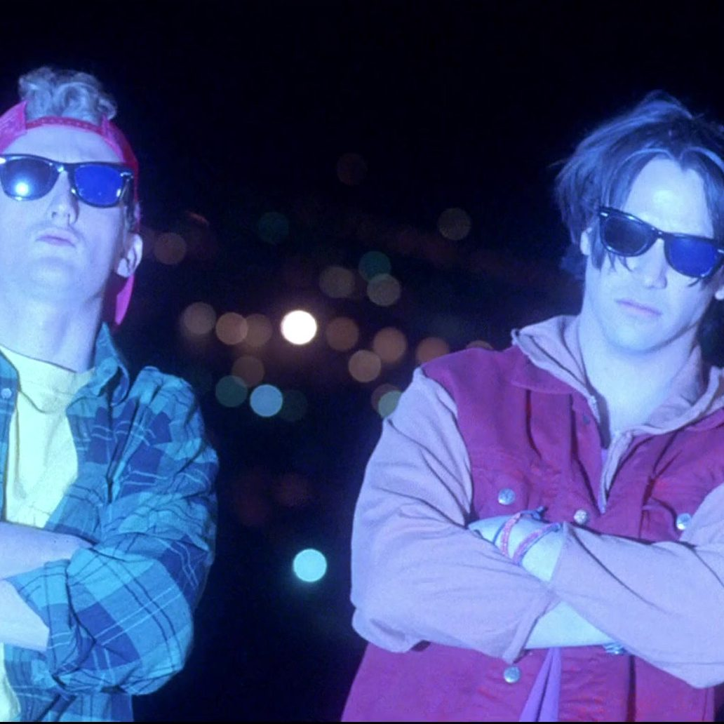 Ray Ban Wayfarer Sunglasses Worn by Keanu Reeves Alex Winter in Bill Teds Bogus Journey 6 e1599663292219 25 Totally Non-Heinous Facts About Bill & Ted's Excellent Adventure!