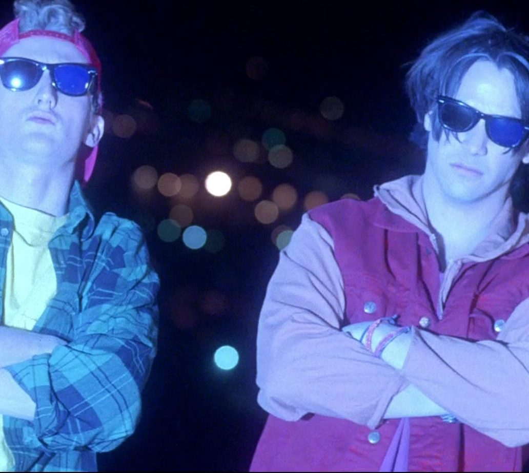 Ray Ban Wayfarer Sunglasses Worn by Keanu Reeves Alex Winter in Bill Teds Bogus Journey 6 e1616579088601 25 Totally Non-Heinous Facts About Bill & Ted's Excellent Adventure!