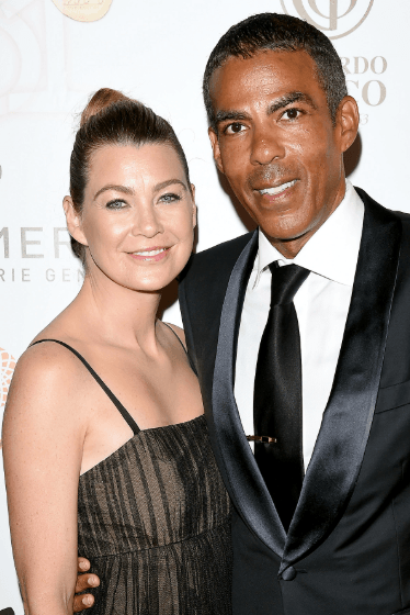 Grey's Anatomy Star Ellen Pompeo with her real-life partner Chris Ivery