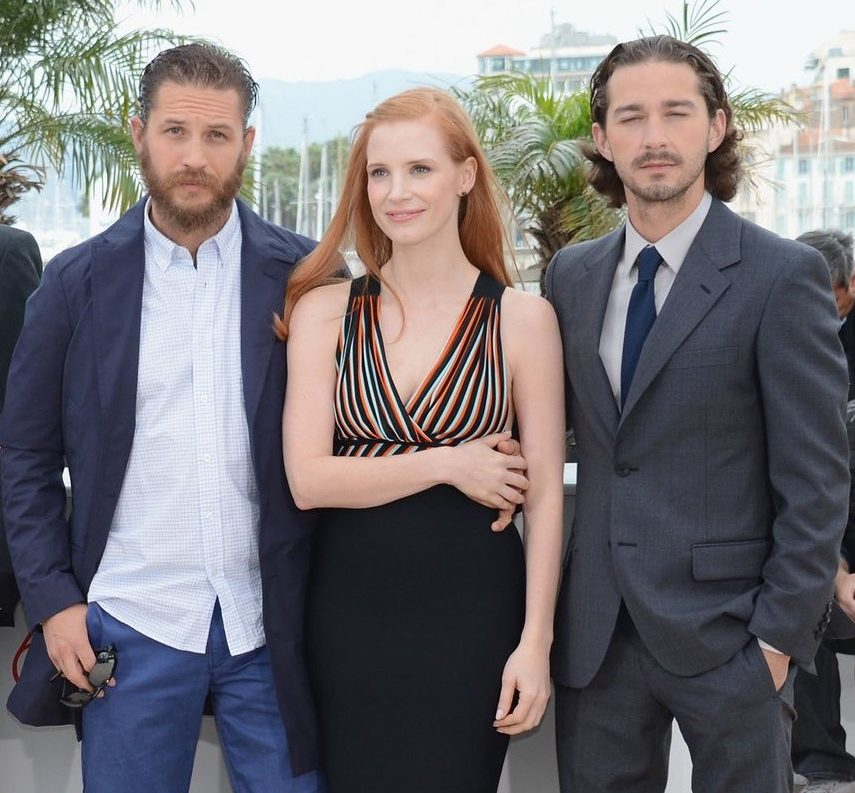 Shia LaBeouf Tom Hardy Cannes Film Festival Pictures e1611654737800 40 Things You Didn't Know About Tom Hardy