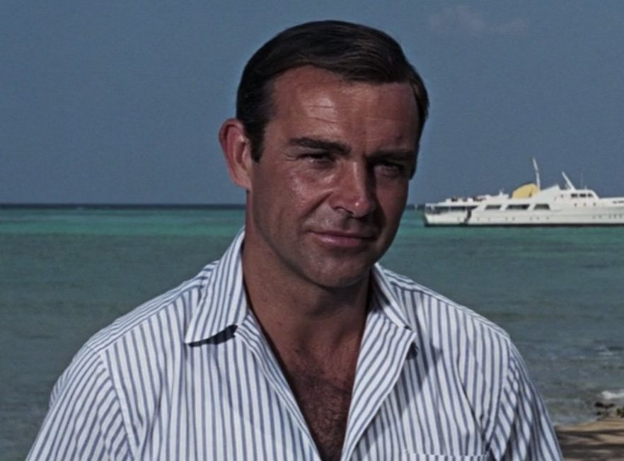 Thunderball Striped Shirt e1615378960567 30 Things You Probably Didn't Know About The James Bond Films