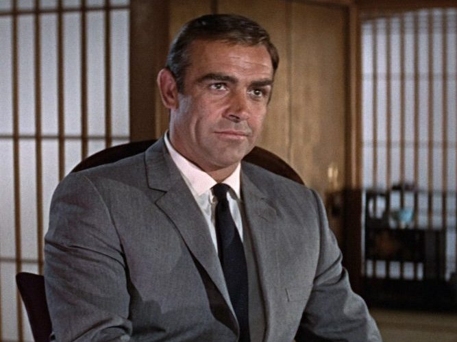 You Only Live Twice Grey Herringbone Suit 2 e1615382827943 30 Things You Probably Didn't Know About The James Bond Films