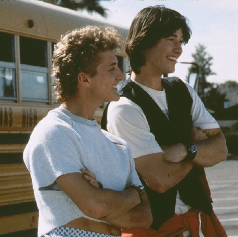 alex winter shares a bunch of bts photos from bill and teds excellent adventure social e1599573989423 25 Totally Non-Heinous Facts About Bill & Ted's Excellent Adventure!