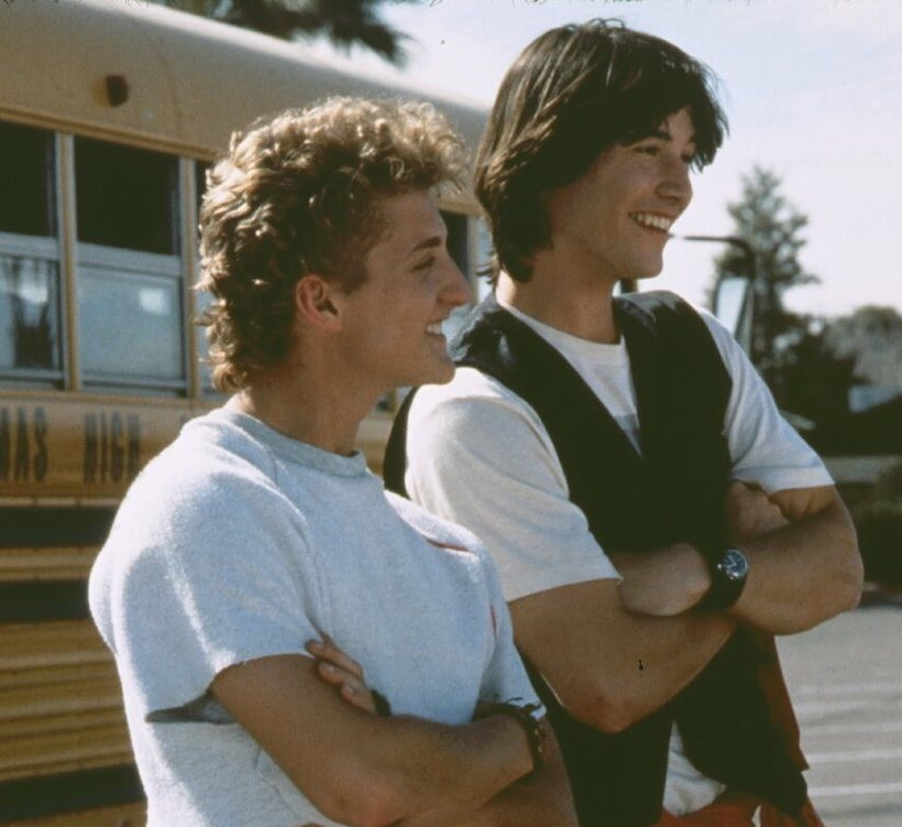 alex winter shares a bunch of bts photos from bill and teds excellent adventure social e1616516785847 25 Totally Non-Heinous Facts About Bill & Ted's Excellent Adventure!