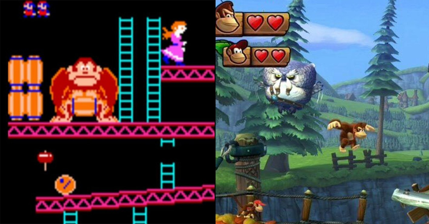 donkey kong then and now Amazing 1980s Video Game Franchises That Are Still Going Strong Today