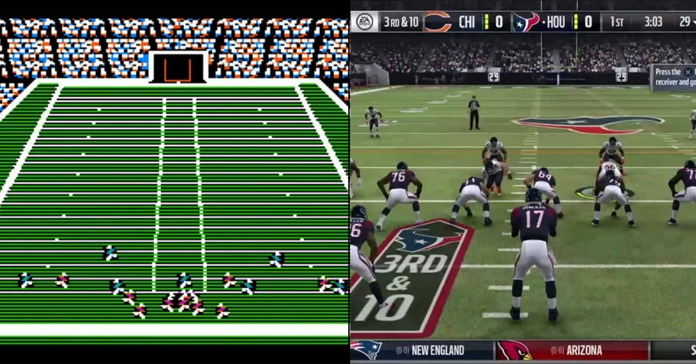 madden nfl then and now Amazing 1980s Video Game Franchises That Are Still Going Strong Today