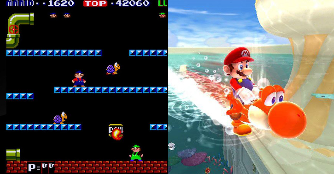 mario then and now Amazing 1980s Video Game Franchises That Are Still Going Strong Today