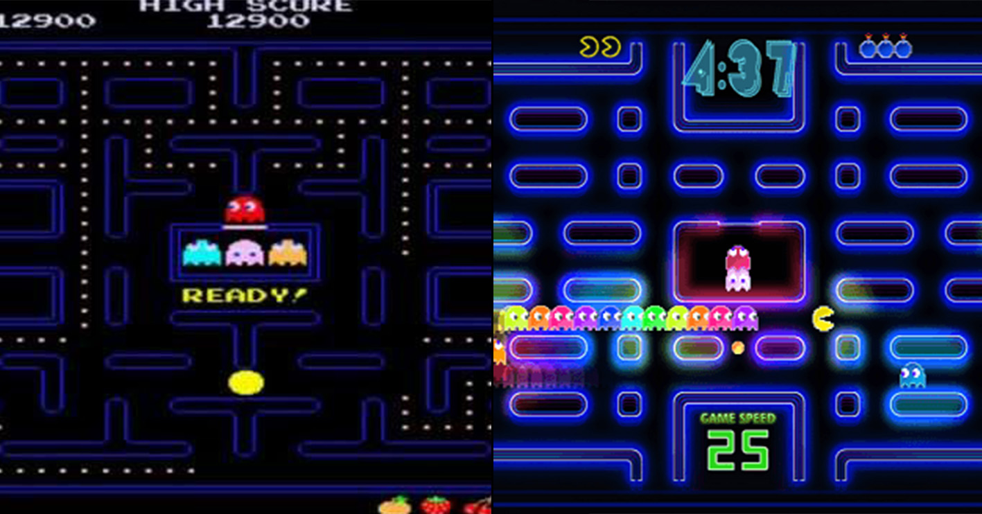 pac man then now Amazing 1980s Video Game Franchises That Are Still Going Strong Today
