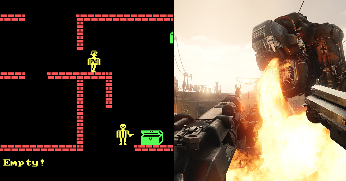 wolfenstein then now Amazing 1980s Video Game Franchises That Are Still Going Strong Today