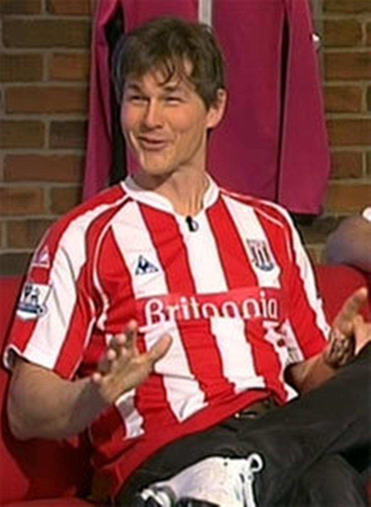 Morten Harket in a Stoke City top