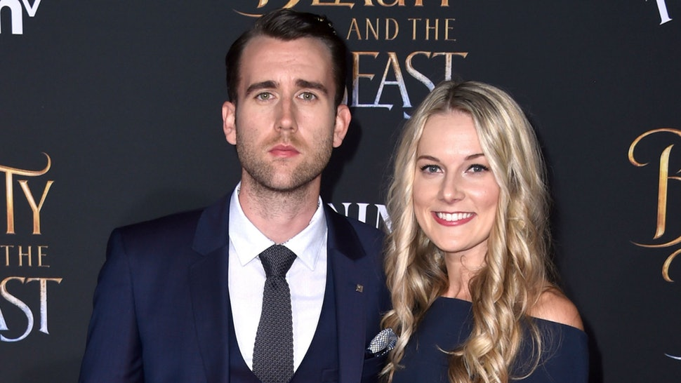 Matthew Lewis with his Angela Jones at the Beauty and The Beast Premier