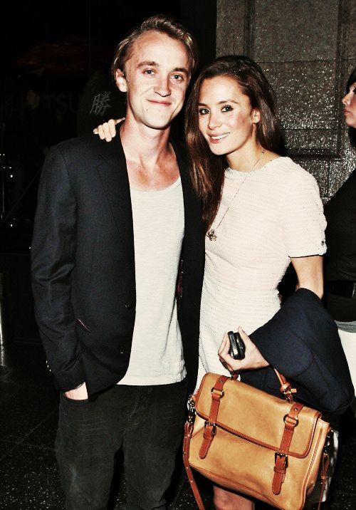 Tom Felton and his girlfriend Jade Olivia Gordon