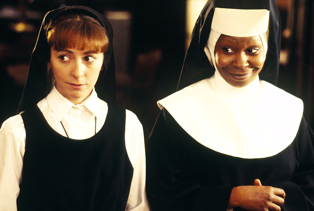 Mother Superior takes Deloris into witness protection in this musical movie about convent life by film director Emile Ardolino and producer Scott Rudin. It cast Whoopi Goldberg as a singing nun in a choir. Its iconic music inspired a Broadway show, and there's news of a second sequel in the works.