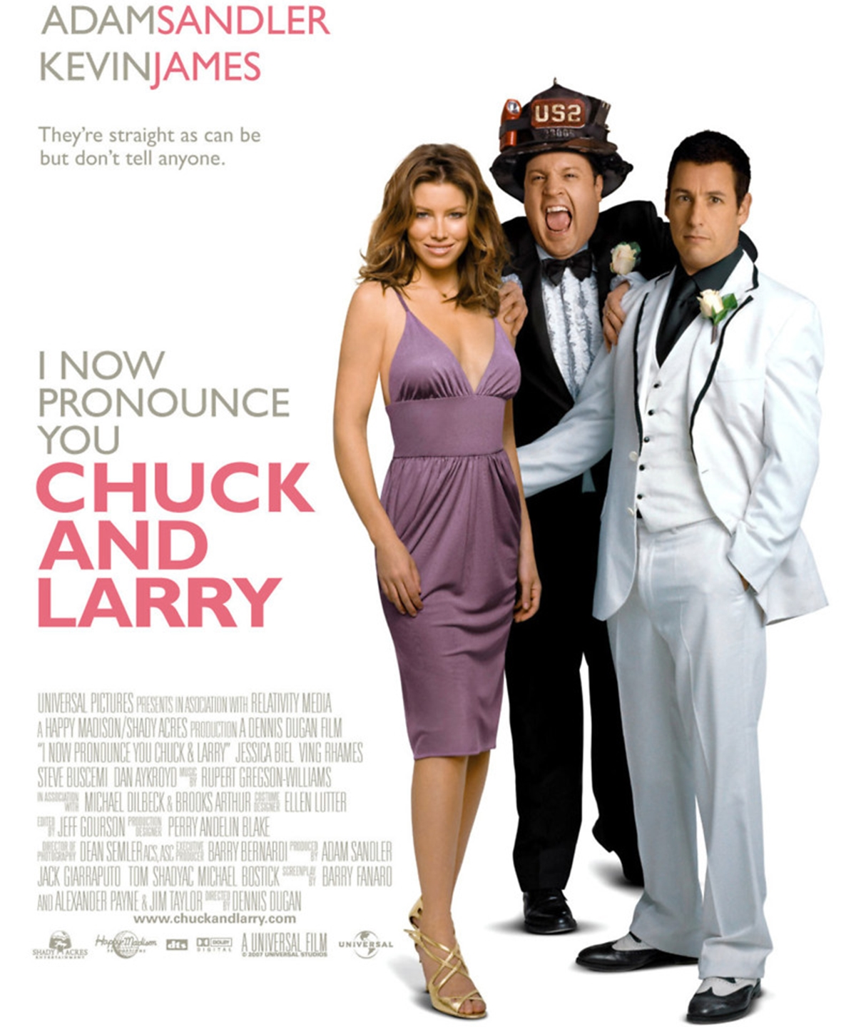 movie poster for i now pronounce you chuck and larry