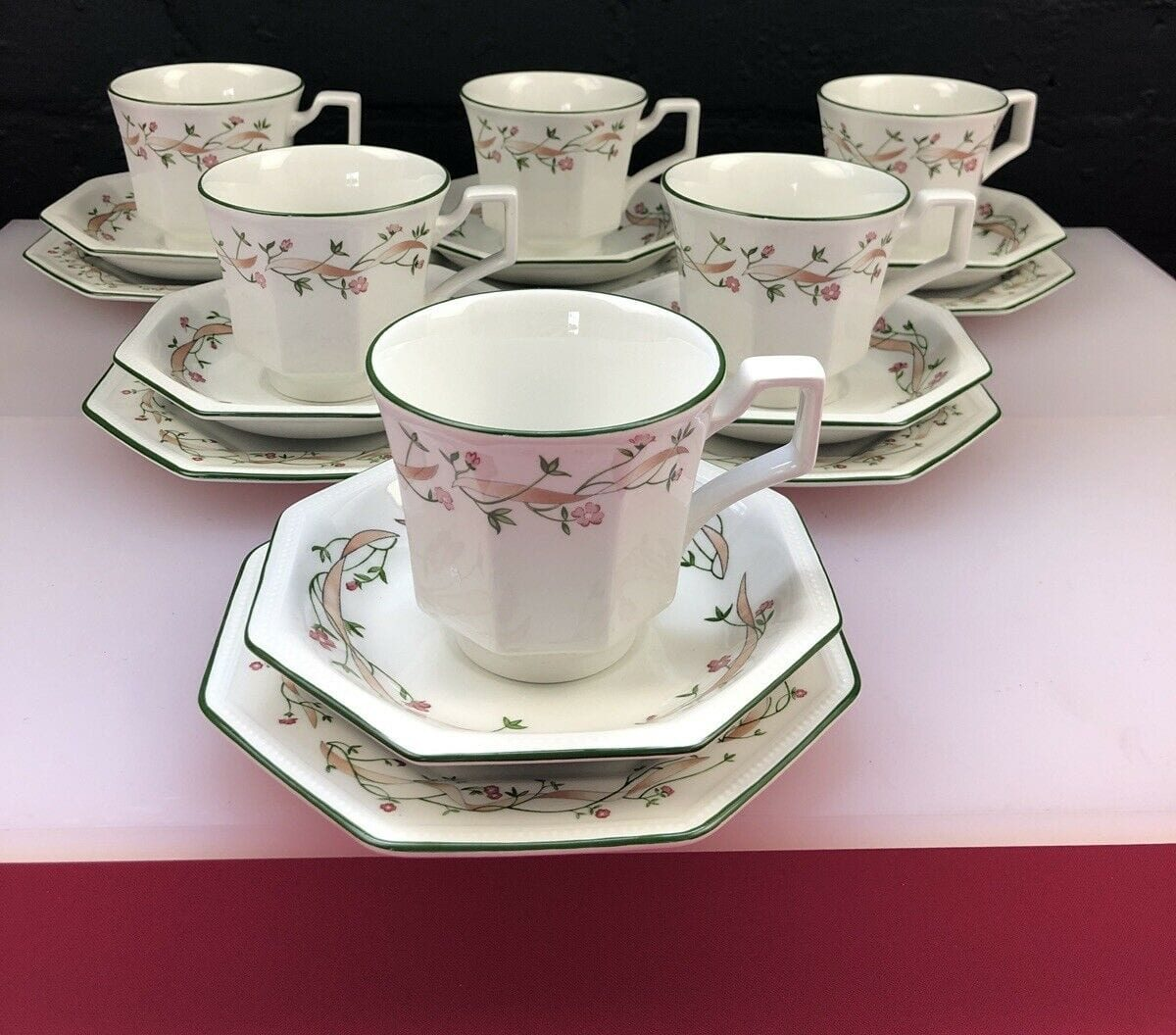 6 x Johnson Brothers Eternal Beau Tea Trios Cups Saucers and Side Plates Set 224047421640 e1628239057748 13 Things Most Households Had When We Were Growing Up - How Many Did You Have?