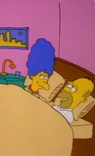 Homer and Marge in Bed Good Night e1542712749857 23 Cartoon Characters Then Vs Now