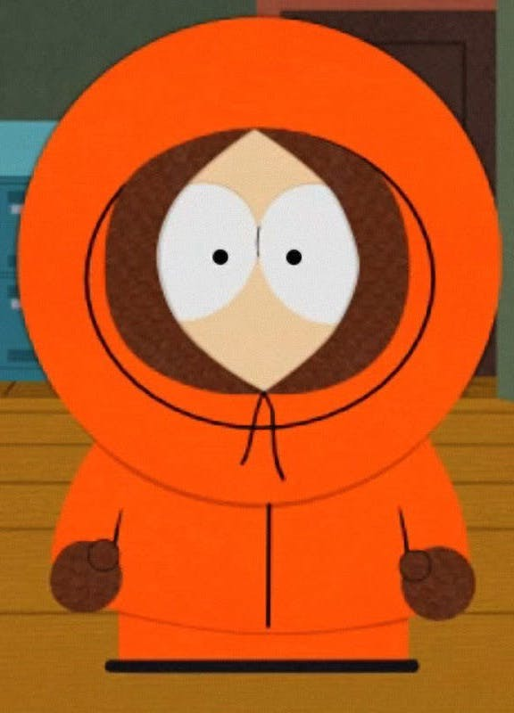 Kenny McCormick on South Park 23 Cartoon Characters Then Vs Now
