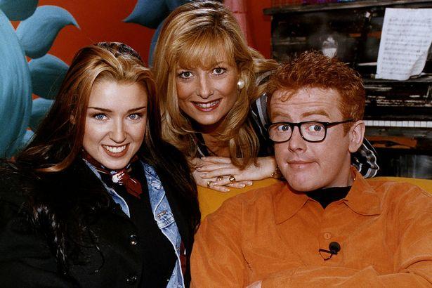 Dannii Minogue, Gaby Roslin, Chris Evans on The Big Breakfast