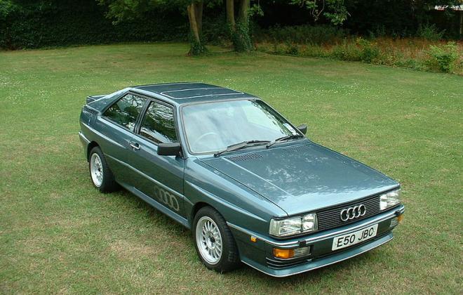 Green Audi Quattro