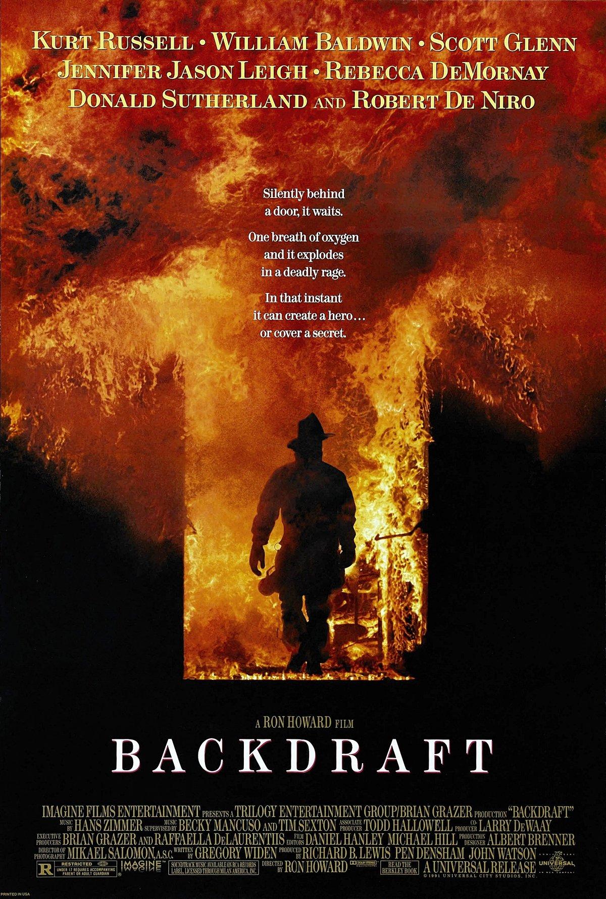 movie poster for backdraft 1991
