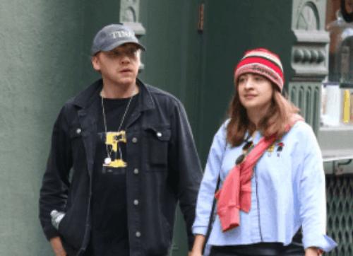 Rupert Grint with girlfriend Georgia Groome