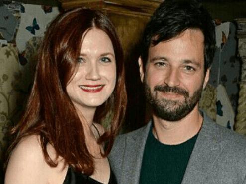 Bonnie Wright with boyfriend Simon Hammerstein