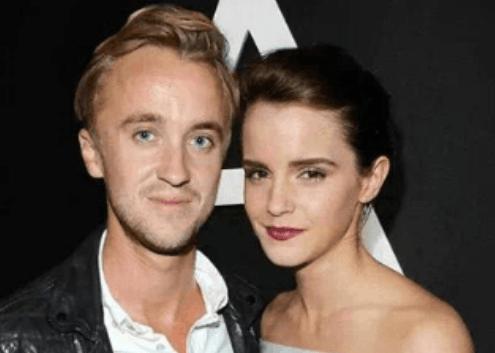 Tom Felton with Emma Watson