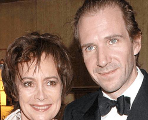 Ralph Fiennes with ex-partner Francesca Annis