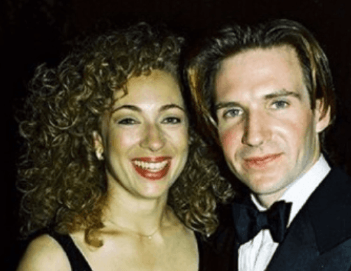 Ralph Fiennes with ex-wife Alex Kingston