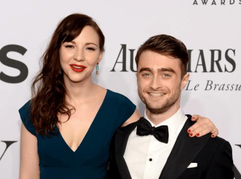 Daniel Radcliffe with fiancee Erin Darke