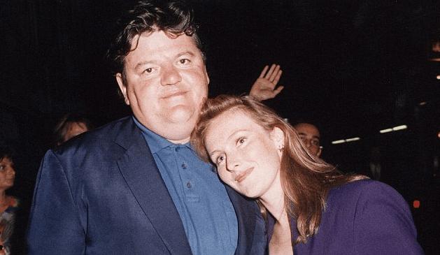 Robbie Coltrane with ex-wife Rhona Gemmell