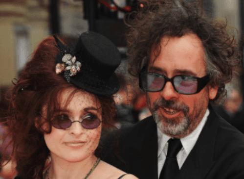 Helena Bonham Carter with ex-husband Tim Burton