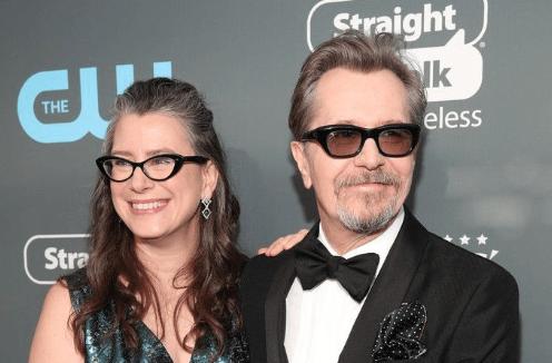 Gary Oldman with fifth wife Gisele Schmidt