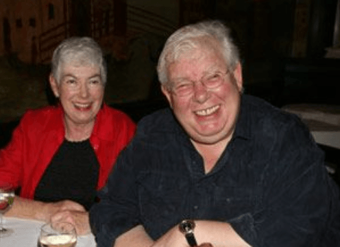 Richard Griffiths with wife Heather Gibson