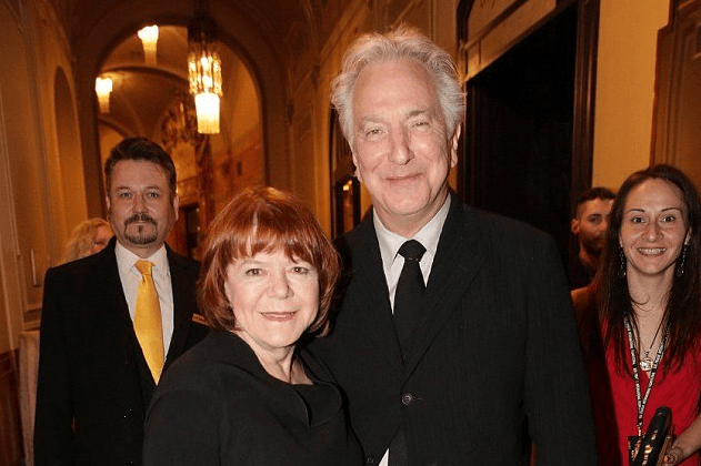 Alan Rickman with wife Rima Horton