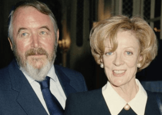 Maggie Smith with husband Beverley Cross