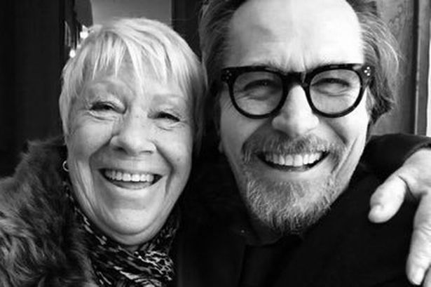 Actress Laila Morse with her actor brother Gary Oldman Big Mo From EastEnders Has Been Spotted In The New Hellboy Trailer