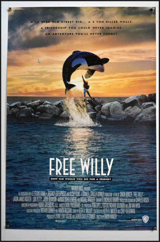 The movie poster for Free Willy