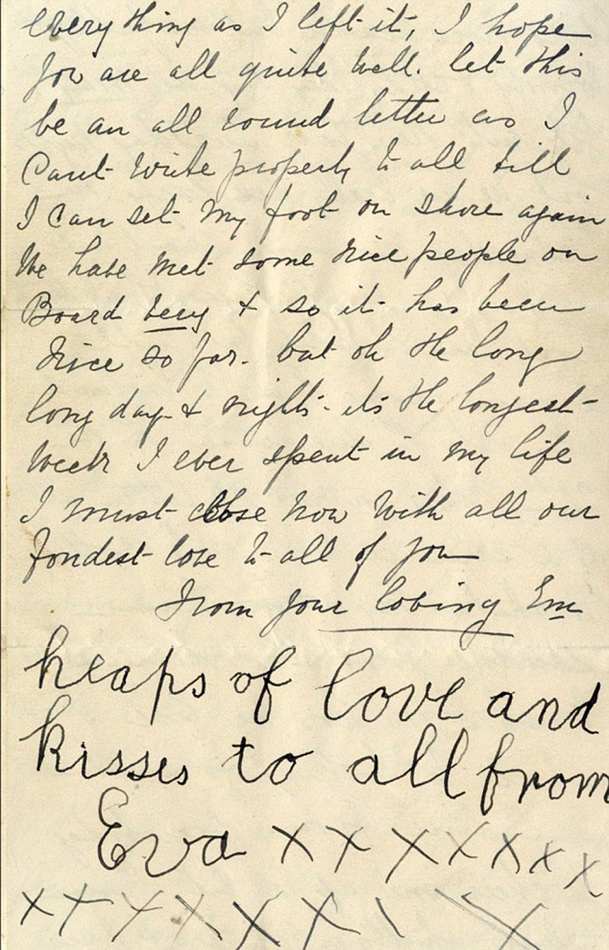 Titanic Letter Eva 25 Things You Never Knew About The Titanic