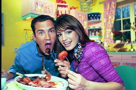 Johnny Vaughan and Kelly Brook The Big Breakfast