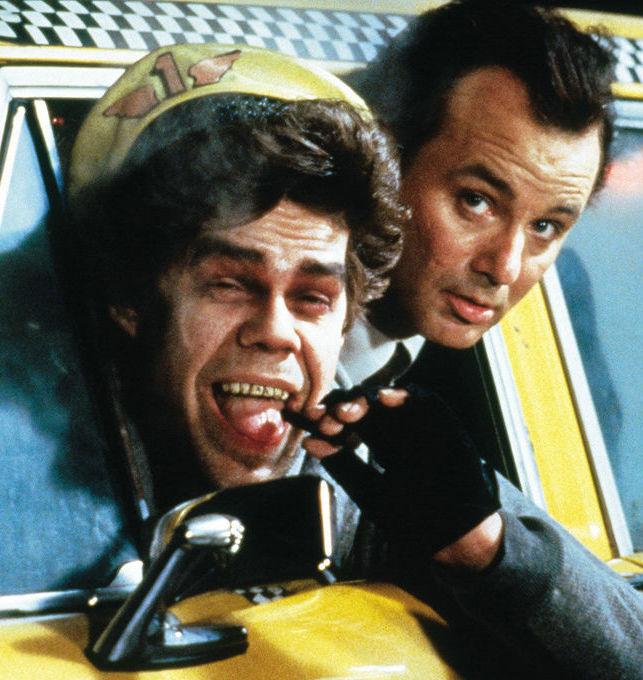 Bill Murray and David Johansen in Scrooged