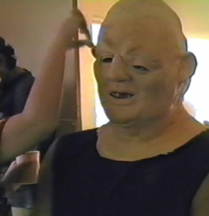 John Matuszak as Sloth having his face assembled