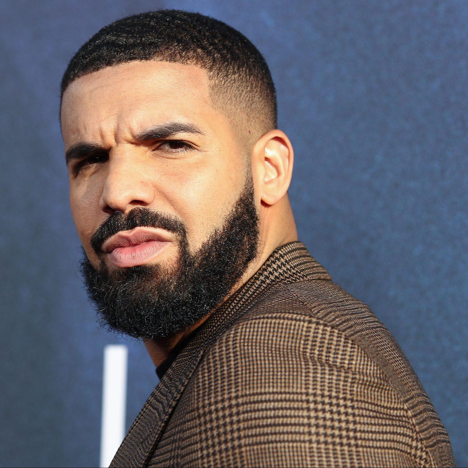 Drake wears a plaid blazer to the premiere of Euphoria